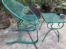 mid century modern wrough iron patio