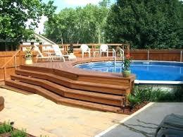in ground pool deck plans. Unique Plans Above Ground Pool Deck Plans Oval Designs In C