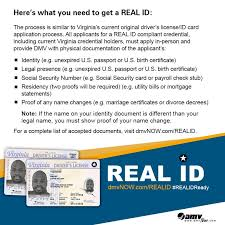 Image result for real id documents needed virginia