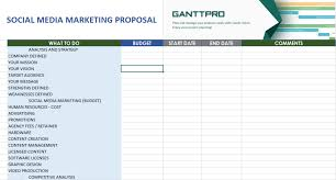Social Media Marketing Proposal Free Download Excel Template