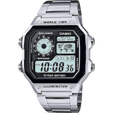buy casio men s watches at argos co uk your online shop for more details on casio men s world time illuminator watch