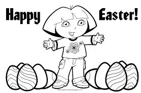 Dora Explorer Easter Coloring Pages Print Color Dora Color Adult