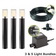 techmar arco 40 led garden post light kit
