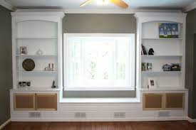 built in bookcases around window styles