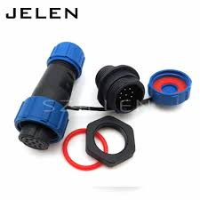 SP2110, 7pin cable connector,<b>IP68</b>, 7 pin plug and socket, LED ...
