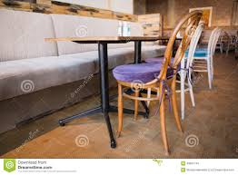 Stylish Coffee Shop With Tables And Chairs Stock Photo Image - Coffee chairs and tables