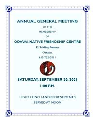 Meeting Announcement Template Annual Meeting Invitation Letter Annual Meeting Invitation