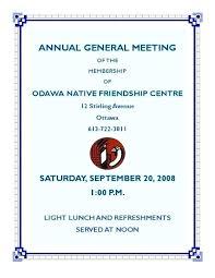 Annual Meeting Invitation Letter Annual Meeting Invitation