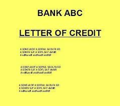 types or kinds of letter of credit