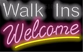 Designer Walk Ins Welcome Businese Tube Neon Sign Beer Club Pub
