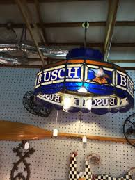 vintage rare busch beer hanging stained glass look pool table light up sign 1823211088
