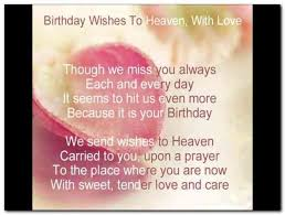 happy birthday mom in heaven letter