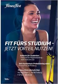 Fitness first studententarif