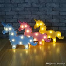 plastic lighting. 2018 Cute 3d Cartoon Unicorn Night Light Plastic Led Lamp Kids Baby Room Bedroom Bedside Christmas Party Wedding Lights Home Shop Decoration From Lighting