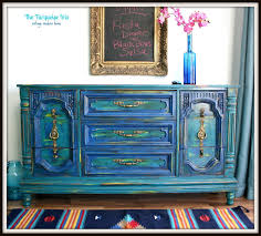 distressed blue furniture. The Turquoise Iris: Teal And Cobalt Blue Distressed Dresser/Buffet Furniture I