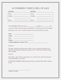 Sale Invoicee Word Car Receipt Free Cash Retail Bill Used