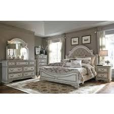 king bedroom sets. Magnolia Manor Antique White Upholstered Panel Bedroom Set King Sets O