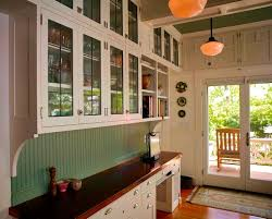 awesome 1920s kitchen cabinet design with glass doors