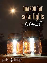 mason jar solar lights for patio on summer nights
