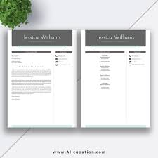 Beautiful And Creative Resume Template With Cover Letter Template