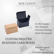 Custom Printed Business Card Boxes Premium Packaging Box Giants