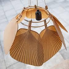 uchiwa kronleuchter lampe deckenlampe faecher uchiwa fan chandelier ingo maurer vintage uchiwa seven fan chandelier ingo maurer 5