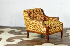 vintage chair. Vintage Armchair With Wood Trim Chair C