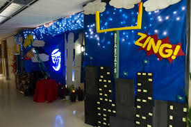 The natural sciences department won this year's Homecoming office decorating  contest with its comic book-