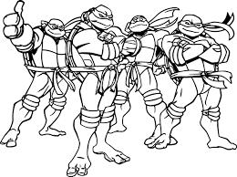 Ninja Turtles Cartoon Coloring Page Wecoloringpage