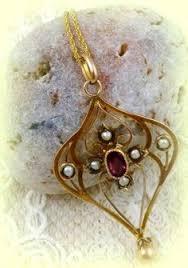 bohemian edwardian pendant