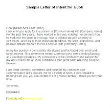Cover Letter Of Intent Cover Letter Of Intent Template Examples Of