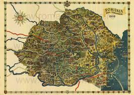 romanian tourism map of   map collection