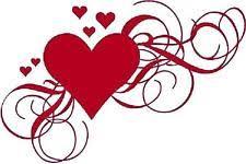 Heart Scrolls Waterslide Nail Decals Set Of 20 Red Hearts With Scrolls Swirls Ebay
