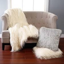 beige fur rug white area brown sheepskin animal rugs faux bedroom interior