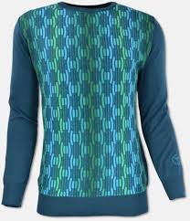 Blue Green Online Carlo Colucci Online Shop Crew Neck Sweater Green Patterned Xl Purchase Online