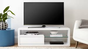 Small Space white gloss TV unit