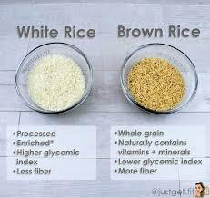 brown rice vs white rice. Modren White Brown Rice VS White In Vs O