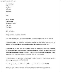 One Weeks Notice Letter To Write A Notice Of Resignation Salary Format Work Template One