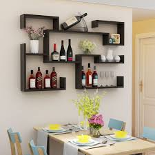 modern wine rack shelf floating wine