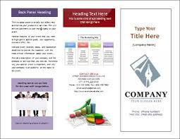 free microsoft word brochure templates tri fold professional corporate tri fold brochure free psd template