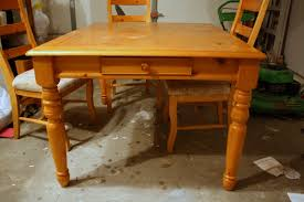 Kitchen Table Refinishing Refinishing The Dining Room Table Shannon Claire
