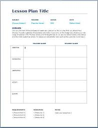 Curriculum Planning Template