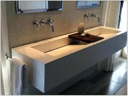 undermount trough sink trough bathroom sink with two faucets 36 undermount trough bathroom sink