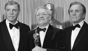 equus and amadeus playwright peter shaffer dies aged the actors burt lancaster left and kirk douglas right stand peter shaffer