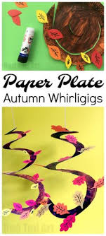 autumn tree paper plate whirligigs whirlgigs are such a fun craft for preers and a