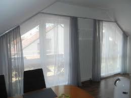 Schräge Fenster Gardinen Haus Ideen
