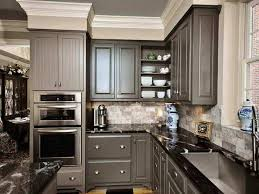 Painting Kitchen Cabinets Grey Cabinet Paint Color Is Benjamin Moore Smoke Embers Lighter Warm