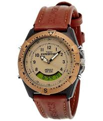 timex expedition analog digital beige dial unisex watch mf13