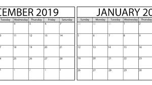 December 2019 January 2020 Calendar Wallpaper Net Market