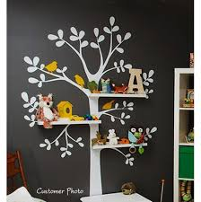 shelving tree nursery wall decal on nursery wall art tree decal with shelving tree nursery wall decal aftcra